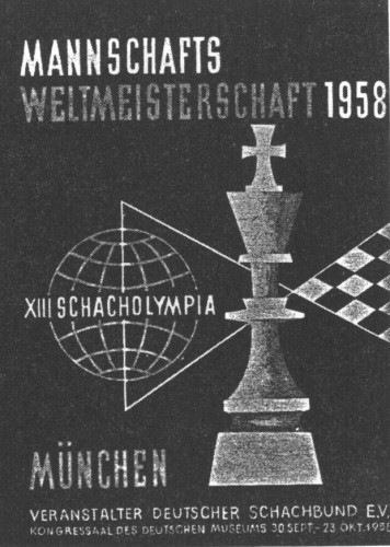 13th Olympiad 1958 Munich, West Germany