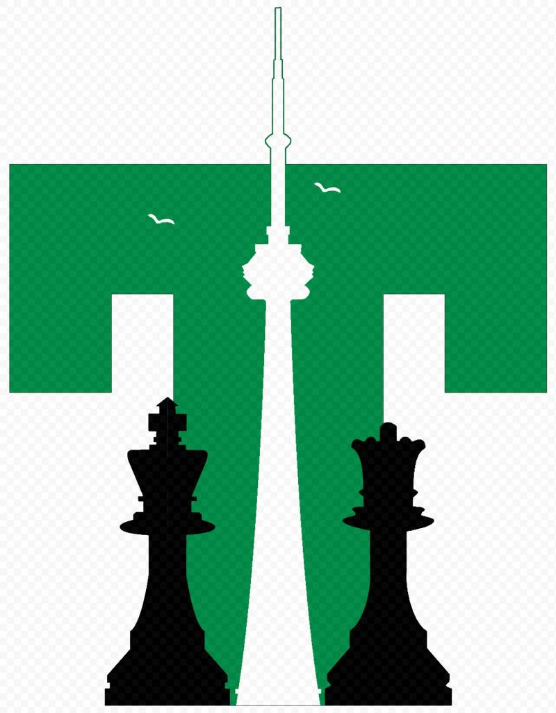 2011 Canadian Open Logo With CN Tower by Laura Grime